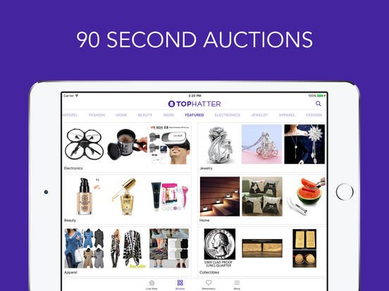 Win Fashion, Jewelry and More in 90 Seconds With Tophatter
