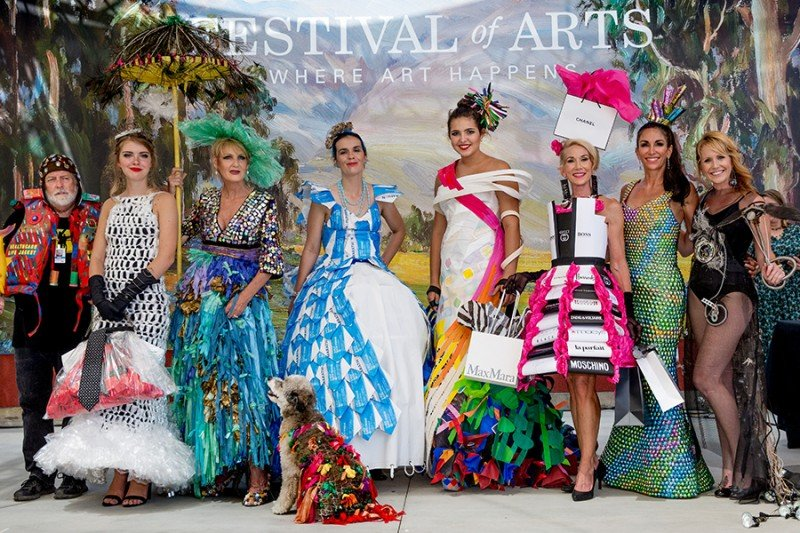 Recycled Fashions Rule the Runway at the Festival of Arts
