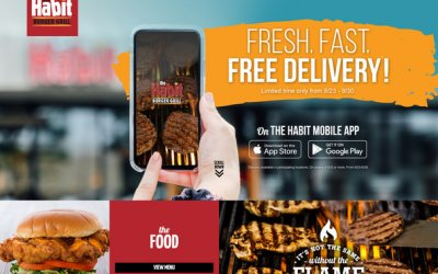 The Habit Burger Grill Brings Fresh, Fast, and Free Delivery to Their App