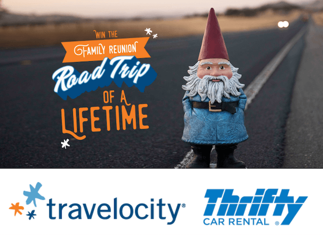 Travelocity and Thrifty Car Rental Give Away $25,000 Road Trips